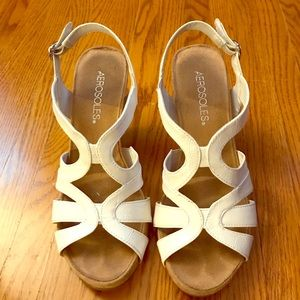 White Comfy Dress Sandals by Aerosoles